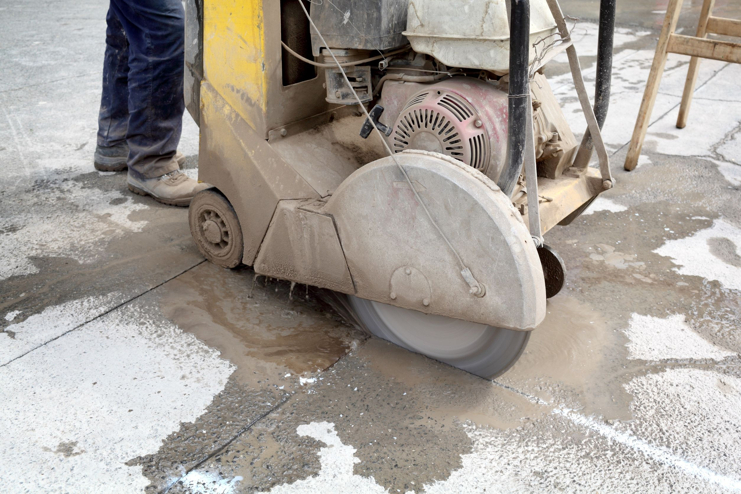 cortadora pavimento